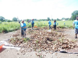 A park cleanup effort with Metro Community Development.